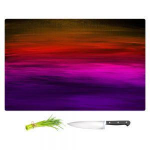 Artistic Kitchen Bar Cutting Boards | Julia Di Sano - Coastal Sunset 4 | abstract landscape