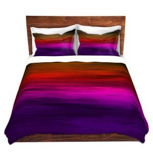 Artistic Duvet Covers and Shams Bedding | Julia Di Sano - Coastal Sunset 4 | abstract landscape