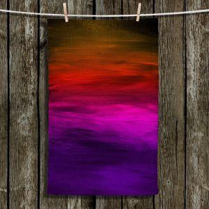 Unique Hanging Tea Towels | Julia Di Sano - Coastal Sunset 4 | abstract landscape