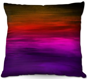 Decorative Outdoor Patio Pillow Cushion | Julia Di Sano - Coastal Sunset 4 | abstract landscape
