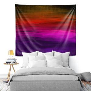 Artistic Wall Tapestry | Julia Di Sano - Coastal Sunset 4 | abstract landscape