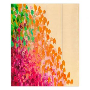 Decorative Wood Plank Wall Art   Julia Di Sano Creation in Color Autumn Infusion