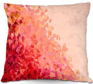 Throw Pillows Decorative Artistic | Julia Di Sano's Creation in Color Coral Pink