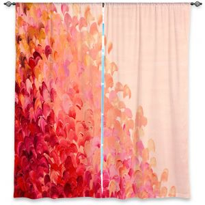 Unique Window Curtain Unlined 40w x 82h from DiaNoche Designs by Julia Di Sano - Creation in Color Coral Pink