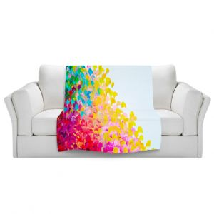 Artistic Sherpa Pile Blankets | Julia DiSano Creation in Color I