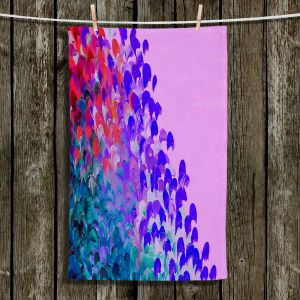 Unique Hanging Tea Towels   Julia Di Sano - Creation in Color Very Berry   Abstract