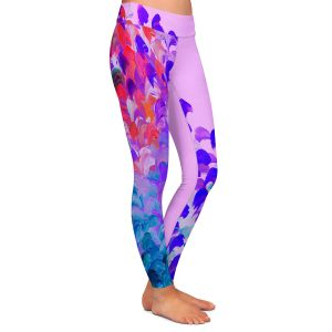 Casual Comfortable Leggings | Julia Di Sano Creation in Color Very Berry