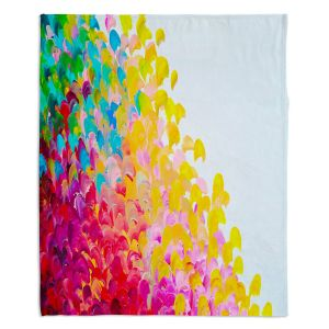 Decorative Fleece Throw Blankets | Julia Di Sano - Creation in Color I