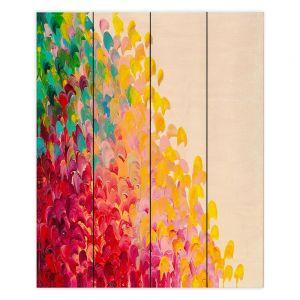 Decorative Wood Plank Wall Art | Julia Di Sano Creation in Color II