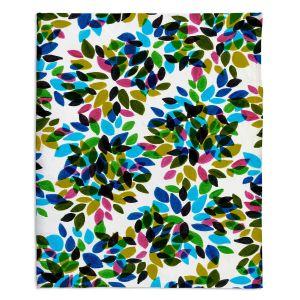 Artistic Sherpa Pile Blankets | Julia Di Sano - Dahlia Dots I