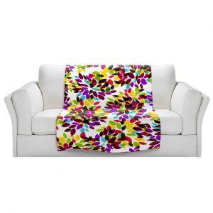 Artistic Sherpa Pile Blankets | Julia Di Sano - Dahlia Dots VI