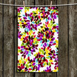 Unique Hanging Tea Towels | Julia Di Sano - Dahlia Dots VI | Abstract Patterns Colorful
