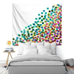 Artistic Wall Tapestry | Julia Di Sano - Digital Splash 1 | Abstract Pattern