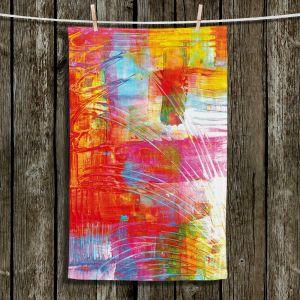 Unique Hanging Tea Towels | Julia Di Sano - Doodle Strokes | Abstract Bright