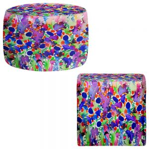 Round and Square Ottoman Foot Stools | Julia Di Sano - Elegance Garden