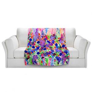Artistic Sherpa Pile Blankets | Julia DiSano Elegance Garden