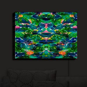 Nightlight Sconce Canvas Light | Julia Di Sano - Enchanted Forest IV | Abstract Painting