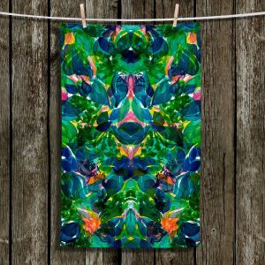 Unique Hanging Tea Towels | Julia Di Sano - Enchanted Forest lV | Abstract Painting