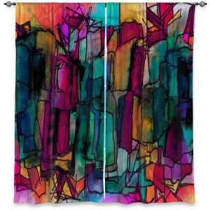 Decorative Window Treatments | Julia Di Sano - Facets of The Self 1 | Abstract Stained Glass