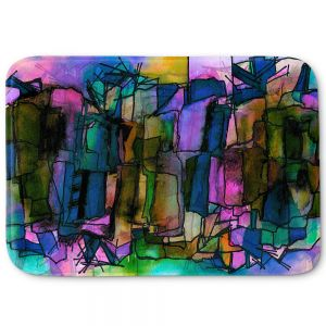 Decorative Bathroom Mats | Julia Di Sano - Facets of The Self 2 | Abstract Stained Glass