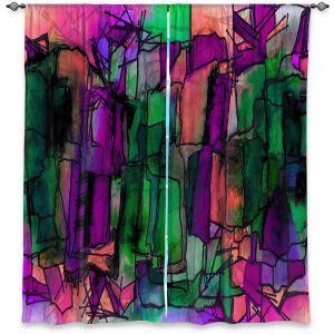 Decorative Window Treatments   Julia Di Sano - Facets of The Self 5   Abstract Stained Glass