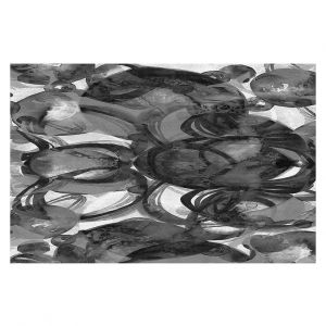 Decorative Floor Coverings | Julia Di Sano - Final Eclipse Grey Black | Abstract