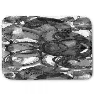Decorative Bathroom Mats   Julia Di Sano - Final Eclipse Grey Black   Abstract