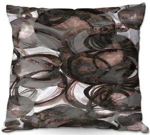 Throw Pillows Decorative Artistic | Julia Di Sano - Final Eclipse Grey Brown | Abstract