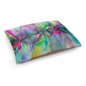 Decorative Dog Pet Beds | Julia Di Sano - Finding Balance 1 | Abstract Lines Water Color