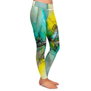 Casual Comfortable Leggings | Julia Di Sano - Finding Balance 2 | Abstract Lines Water Color