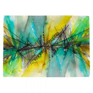 Countertop Place Mats   Julia Di Sano - Finding Balance 2   Abstract Lines Water Color