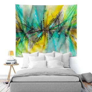 Artistic Wall Tapestry | Julia Di Sano - Finding Balance 2 | Abstract Lines Water Color