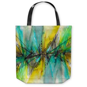 Unique Shoulder Bag Tote Bags | Julia Di Sano - Finding Balance 2 | Abstract Lines Water Color