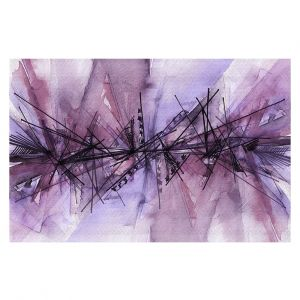 Decorative Floor Coverings   Julia Di Sano - Finding Balance 4   Abstract Lines Water Color