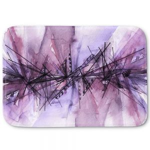 Decorative Bathroom Mats | Julia Di Sano - Finding Balance 4 | Abstract Lines Water Color