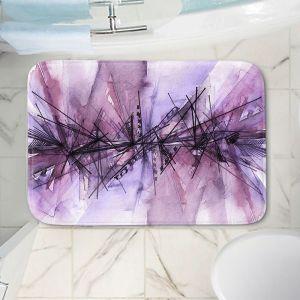 Decorative Bathroom Mats | Julia Di Sano - Finding Balance 4 | Abstract Lines Water Color
