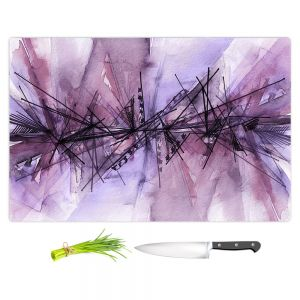 Artistic Kitchen Bar Cutting Boards   Julia Di Sano - Finding Balance 4   Abstract Lines Water Color