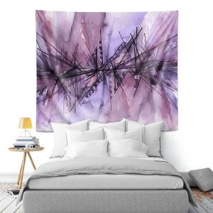 Artistic Wall Tapestry | Julia Di Sano - Finding Balance 4 | Abstract Lines Water Color