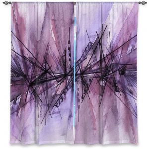 Decorative Window Treatments | Julia Di Sano - Finding Balance 4 | Abstract Lines Water Color