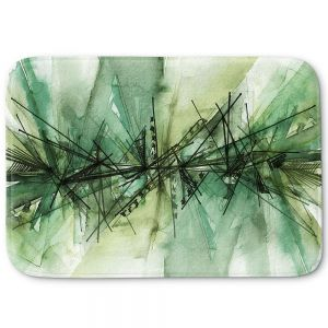 Decorative Bathroom Mats | Julia Di Sano - Finding Balance 6 | Abstract Lines Water Color