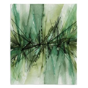 Decorative Fleece Throw Blankets | Julia Di Sano - Finding Balance 6 | Abstract Lines Water Color