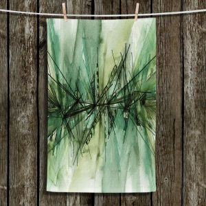 Unique Hanging Tea Towels | Julia Di Sano - Finding Balance 6 | Abstract Lines Water Color