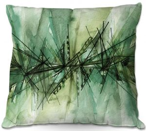Throw Pillows Decorative Artistic | Julia Di Sano - Finding Balance 6 | Abstract Lines Water Color