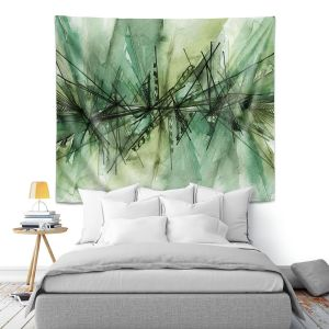 Artistic Wall Tapestry | Julia Di Sano - Finding Balance 6 | Abstract Lines Water Color