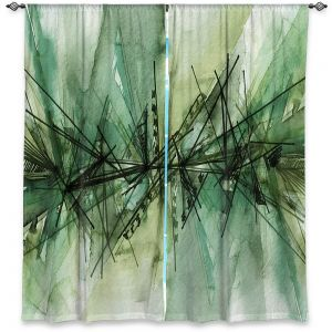 Decorative Window Treatments | Julia Di Sano - Finding Balance 6 | Abstract Lines Water Color
