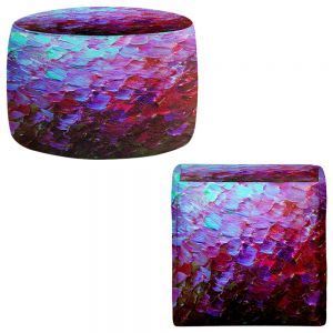 Round and Square Ottoman Foot Stools | Julia Di Sano - Fish Scales