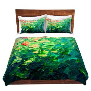 Unique Duvet Microfiber King Set from DiaNoche Designs by Julia Di Sano - Fish Scales Rainbow