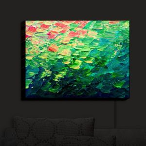 Nightlight Sconce Canvas Light | Julia Di Sano - Fish Scales Rainbow | Abstract Painting