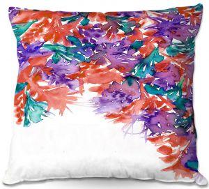 Decorative Outdoor Patio Pillow Cushion | Julia Di Sano - Floral Cascade II