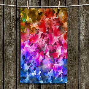 Unique Hanging Tea Towels   Julia Di Sano - Floral Color IV   Flowers Unique Artwork